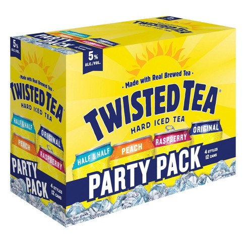 Twisted Tea Hard Iced Tea Party Pack 12pk 12 Fl Oz Cans Target