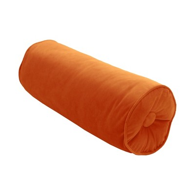 "7""x18"" Velvet Neck Roll Throw Pillow - Edie@Home"