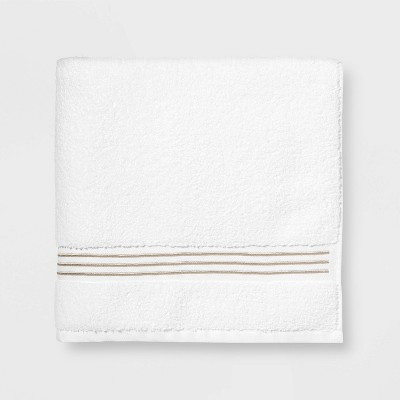 Spa Bath Towel Taupe Stripe - Threshold Signature™