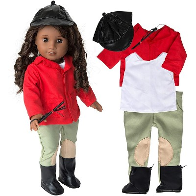 Dress Along Dolly Equestrian Horse Riding Outfit for American Girl Doll