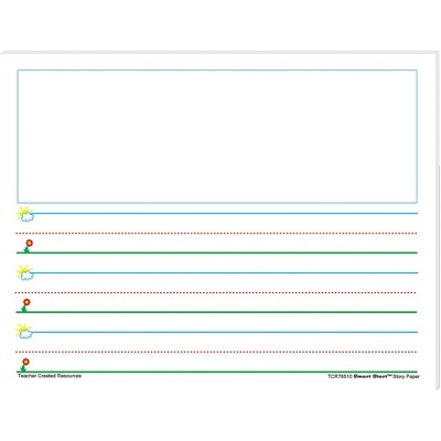 Teacher Created Resources Smart Start Story Paper, Grade K to 1, 1 Inch Rule, 11 x 8-1/2 Inches, 360 Sheets