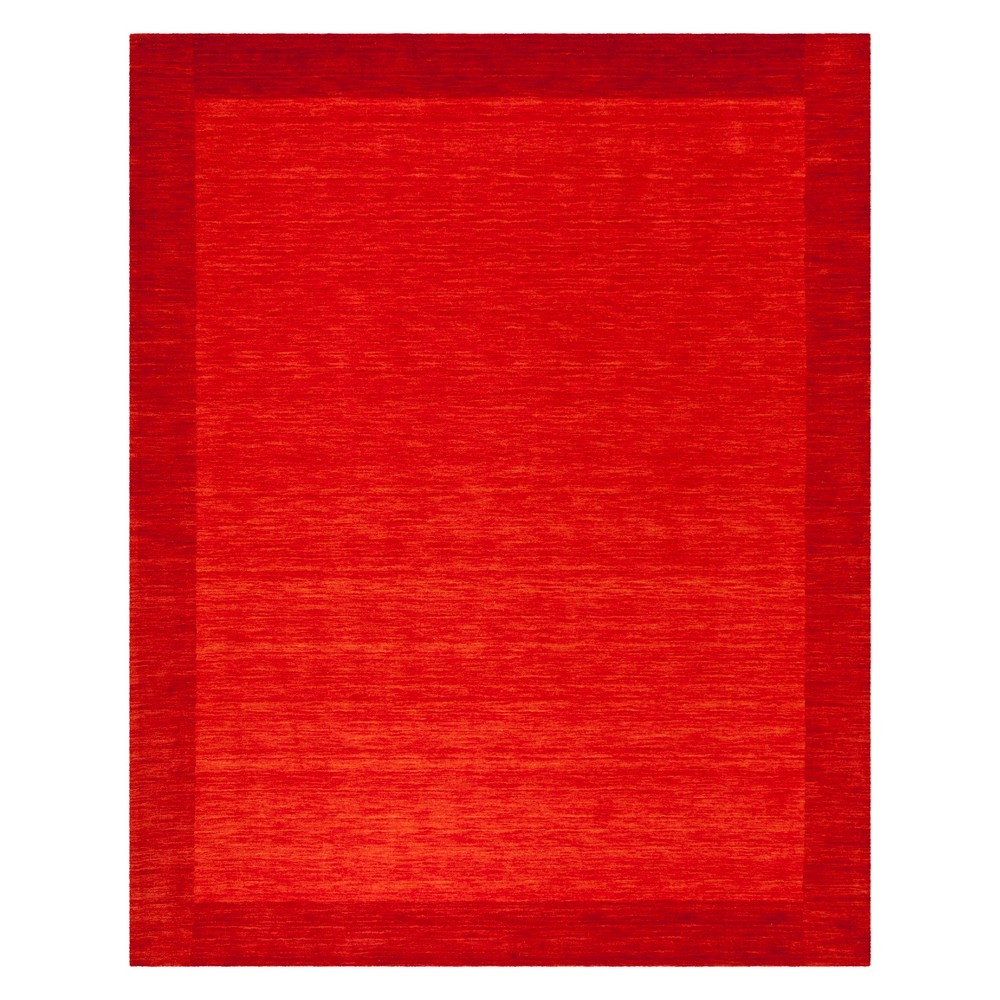 8'X10' Color Block Loomed Area Rug Red - Safavieh