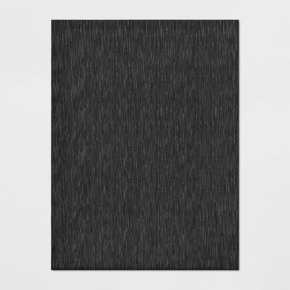 Image of 9'X12' Stripe Tufted Area Rug Black - Made By Design