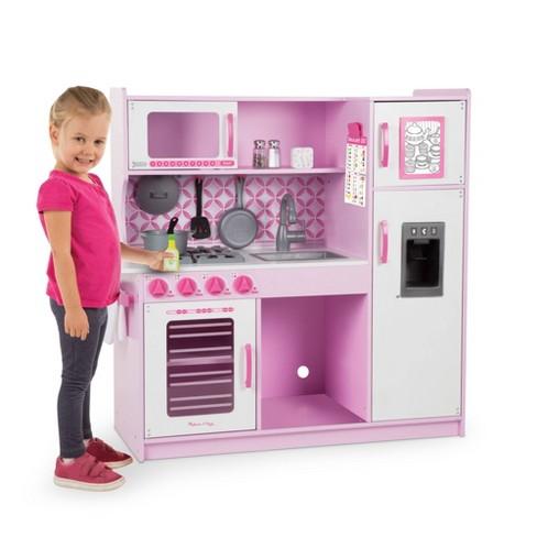 Melissa & Doug Chef's Kitchen Pretend Play Set - Cupcake Pink/White - image 1 of 4