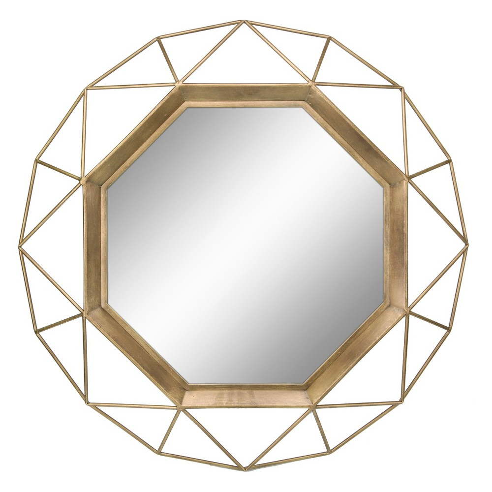 Image of Octagon Mirror Gold 30 x 30 - Stonebriar Collection