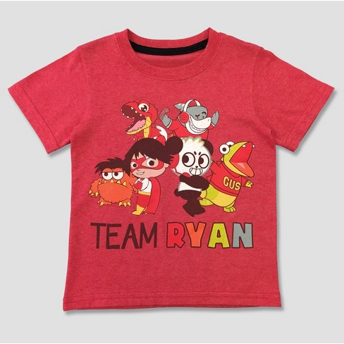 7a3f74919 Toddler Boys' Ryan's World Short Sleeve T-Shirt - Red : Target