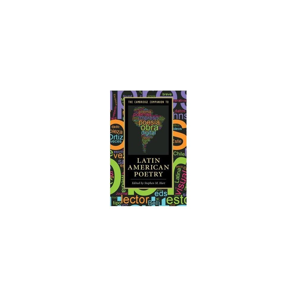 Cambridge Companion to Latin American Poetry - (Paperback)