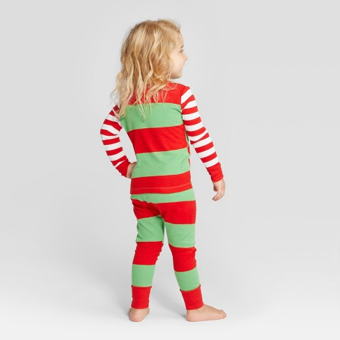 Toddler Striped Holiday Rugby Pajama Set - Wondershop™ Red 18M   Target ace209c5c