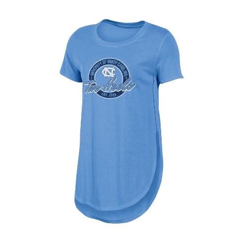North Carolina Tar Heels Women's Heathered Crew Neck Tunic T-Shirt - image 1 of 1