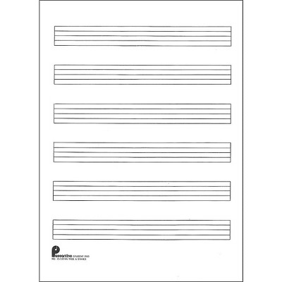 Music Sales Writing Pad #15 6 Stave Extra Wide, 40 Shts, 8X10.5
