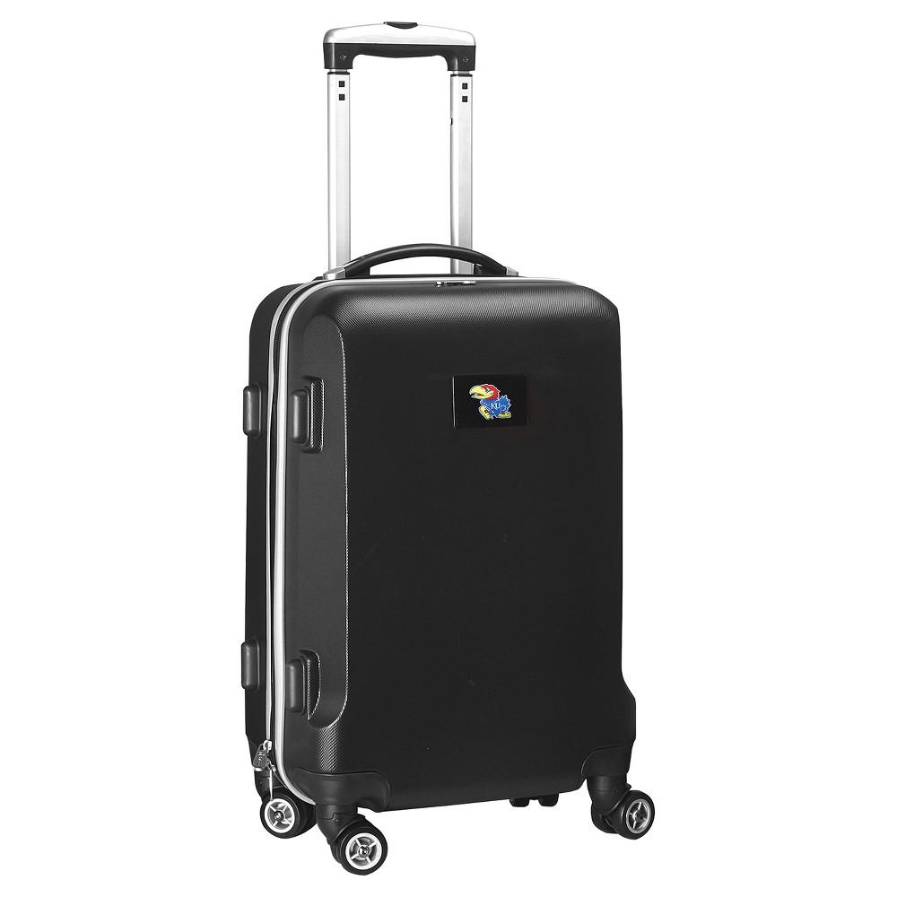 NCAA Kansas Jayhawks Black Hardcase Spinner Carry On Suitcase