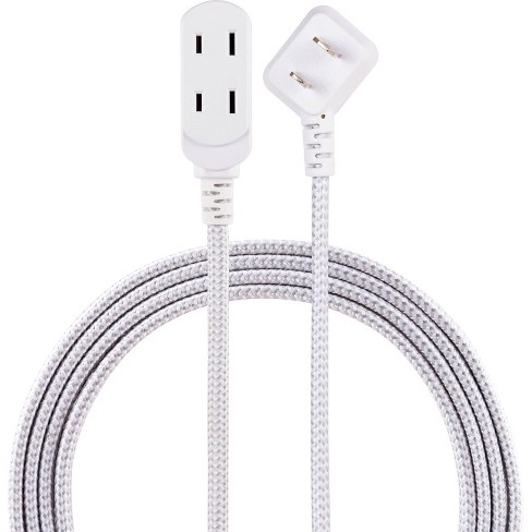 Cordinate 8 3 Outlet Polarized Extension Cord Gray White Target