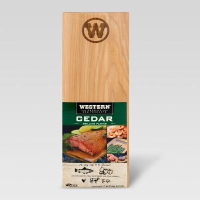 Western Cedar BBQ Grilling Planks - 2pk
