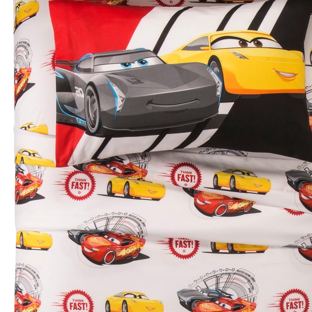 Image of Disney Cars 3 Twin Sheet Set - Red & White