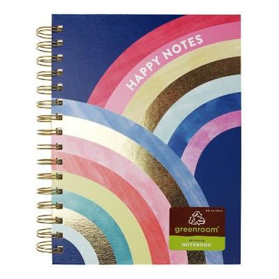Spiral Journal Rainbow Happy Notes - greenroom