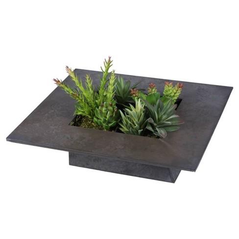 """Artificial Succulent Wall Arrangement (14"""") Green - Vickerman - image 1 of 3"""
