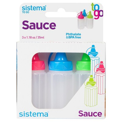 Sistema Sauce To Go - 3pk 1.1oz