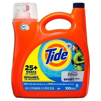 Tide Plus Febreze Sport Odor Defense HE Turbo Clean Liquid Laundry Detergent - 154 fl oz