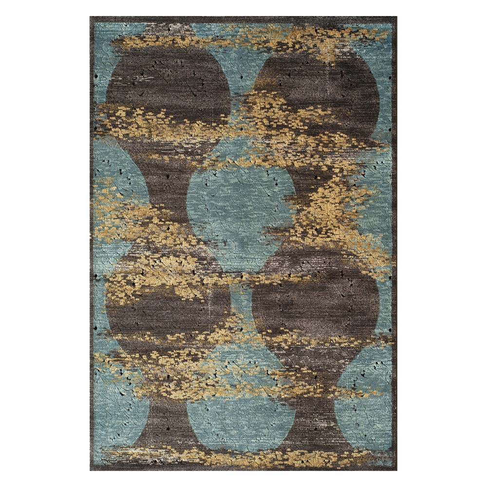 "Image of ""1'8""""X2'7"""" Shapes Loomed Accent Rug Blue - Momeni, Green"""