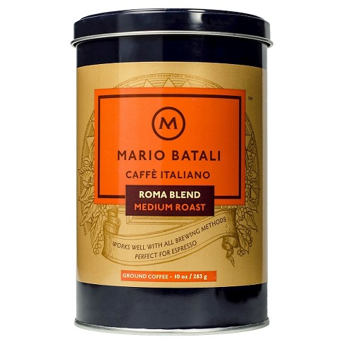 Mario Batali® Caffè Italiano Roma Blend Medium Roast Ground Coffee - 10oz - image 1 of 1