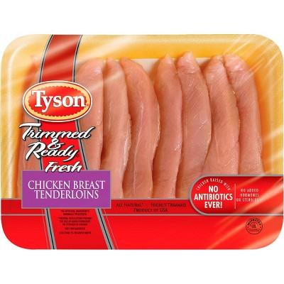Tyson Trimmed & Ready Chicken Tenderloins - 1.25-2.1 lbs - price per lb