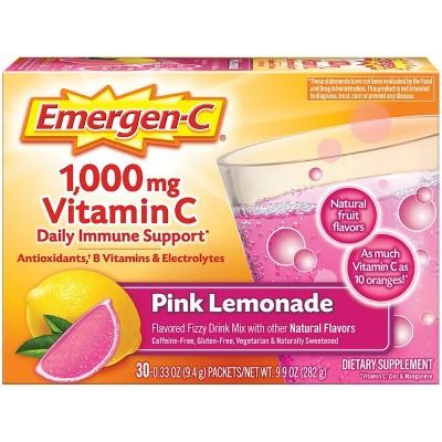 Emergen-C Vitamin C Drink Mix - Pink Lemonade - 0.33oz/30pk