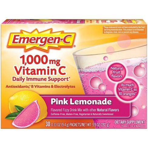 Emergen-C Vitamin C Drink Mix - Pink Lemonade - 0.33oz/30pk - image 1 of 4