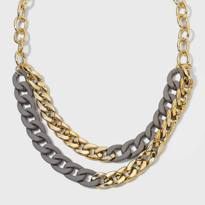 Matte Link Chain Necklace - A New Day™ Gold