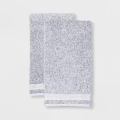 2pk Solid Bath Sheet Light Gray - Made By Design™