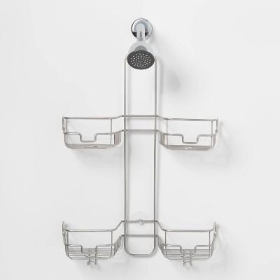 Hose Round Wire Shower Caddy Silver - Made By Design™