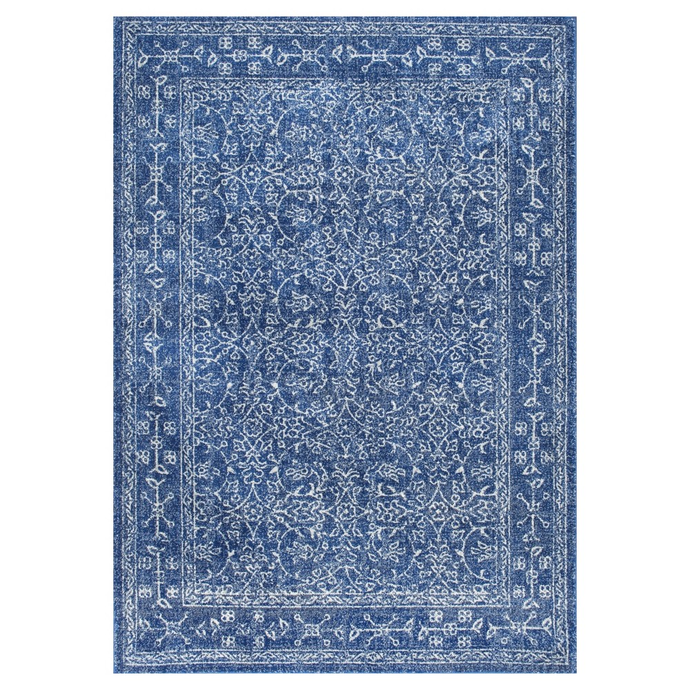 Blue Solid Loomed Area Rug - (5'3