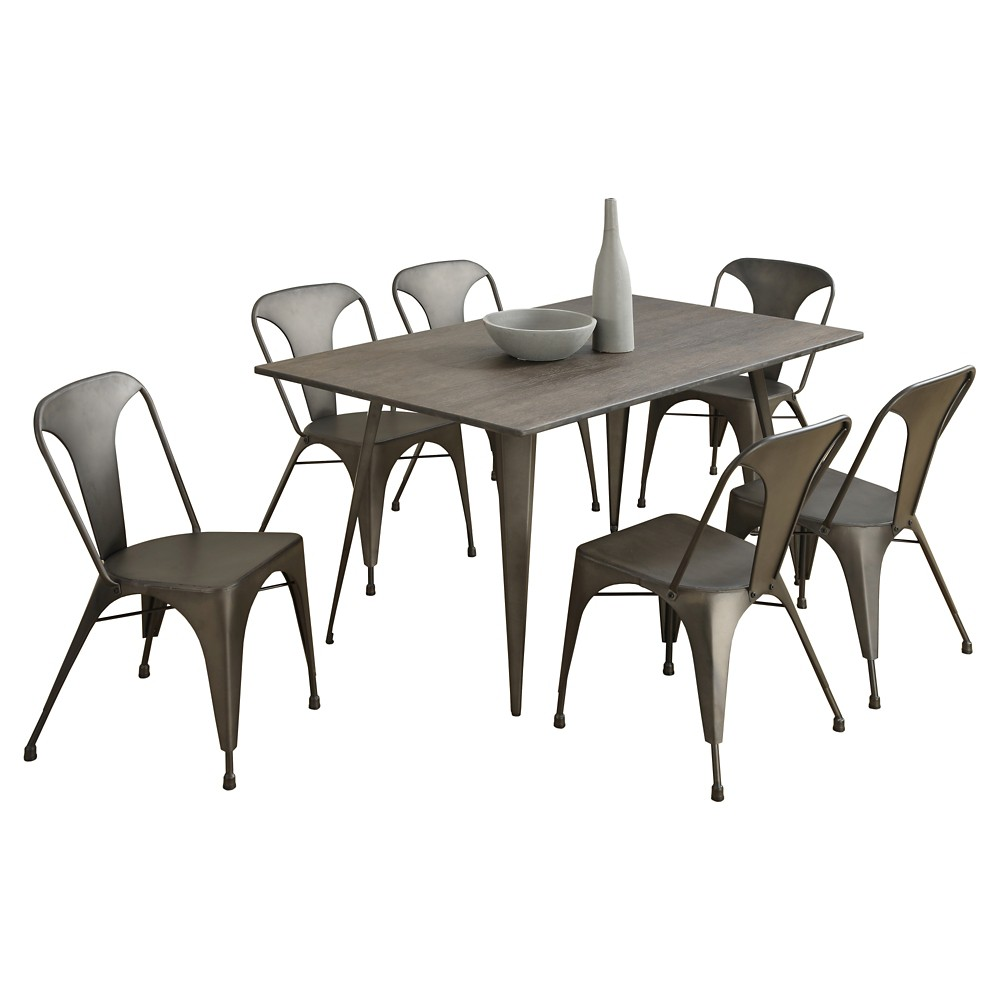 Distressed Dining Table - Bronze - EveryRoom