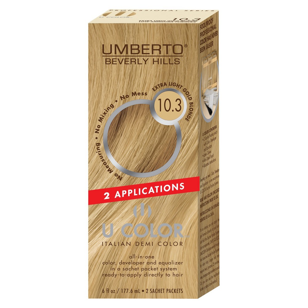 Umberto Beverly Hills U Color Italian Demi Hair Color - 10.3 Extra Light Golden Blonde