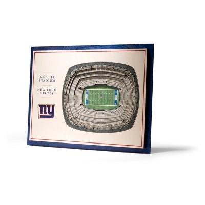 NFL New York Giants 5-Layer Stadiumviews 3D Wall Art