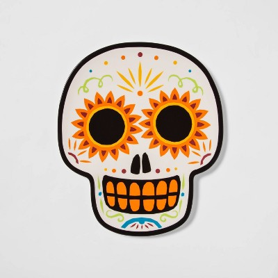Large Ceramic Día de Muertos Sugar Skull Serving Platter