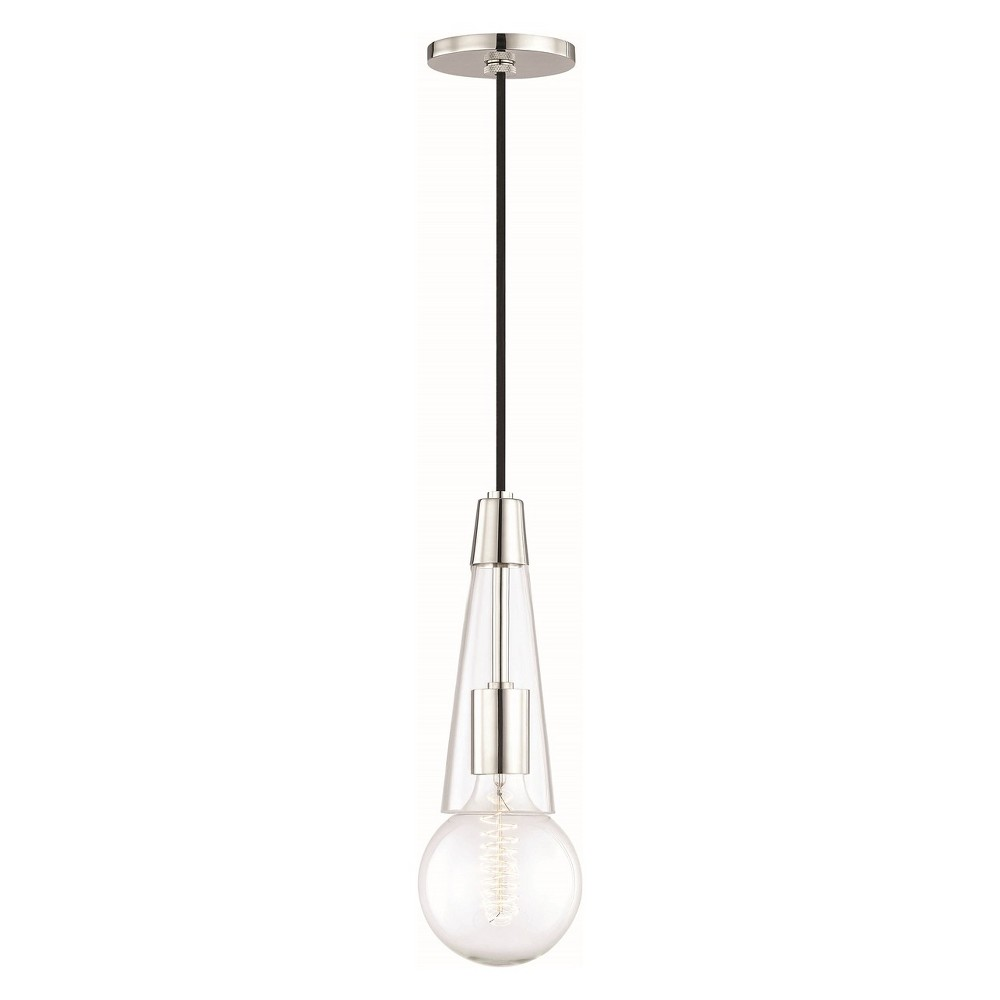 Image of 1pc Joni Light Pendant Brushed Nickel - Mitzi by Hudson Valley