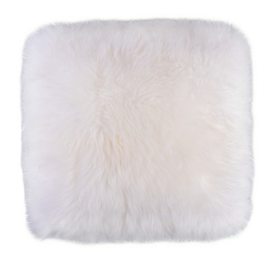 DEERLUX Genuine Australian Lamb Fur Sheepskin Square Pillow Cover 16 in.
