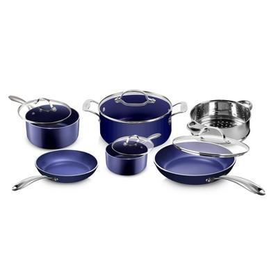 Granitestone Blue 10pc Cookware Set