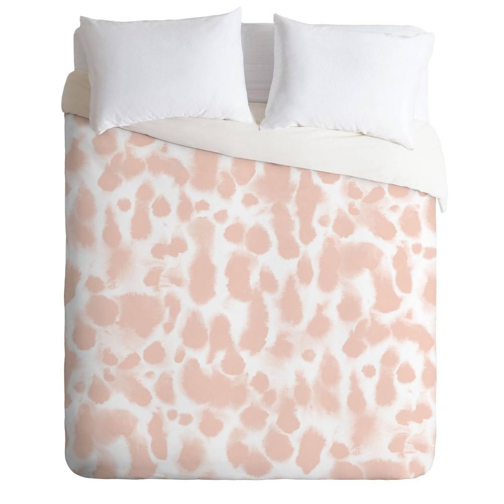 Twin Extra Long Twin Jacqueline Maldonado Dye Drops Flamingo Comforter Set Pink Deny Designs