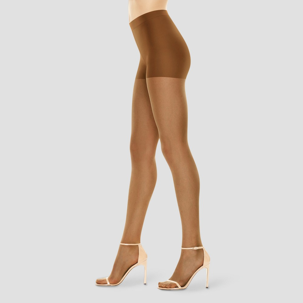 Image of Hanes Premium Women's Perfect Nudes Control Top Silky Ultra Sheer Pantyhose - Tan L, Women's, Size: Large, Beige
