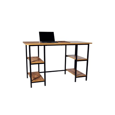 4 Shelf Camden Computer Desk Classic Oak - OneSpace