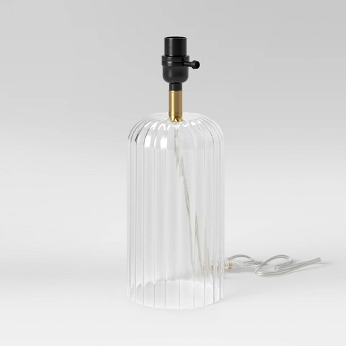 Small Ribbed Glass LED Table Lamp Clear (Lamp Only) - Project 62™ - image 1 of 4