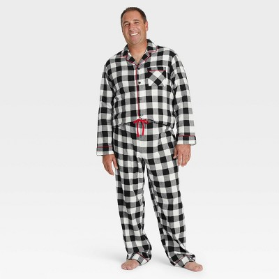 Men's Plaid Flannel Pajama Set - Wondershop™ White
