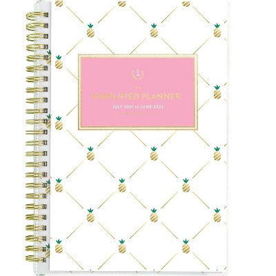 """AT-A-GLANCE 2021-2022 5.5"""" x 8.5"""" Academic Planner Pineapple EL64-201A-22"""
