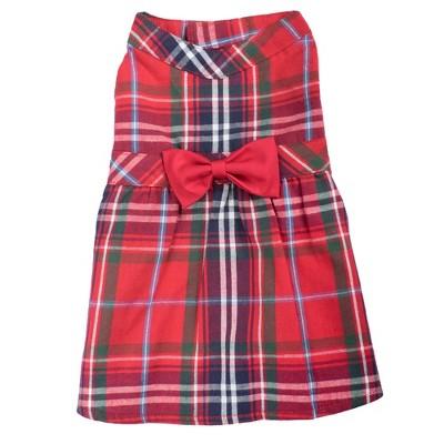 The Worthy Dog Flannel Plaid Adjustable Pet Dress