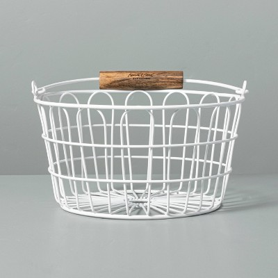 Small Wire Easter Basket with Handle White - Hearth & Hand™ with Magnolia