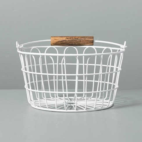 Wire Easter Basket with Handle White - Hearth & Hand™ with Magnolia - image 1 of 4