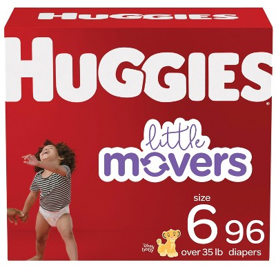 Huggies Little Movers Baby Disposable Diapers - Size 6 - 96ct