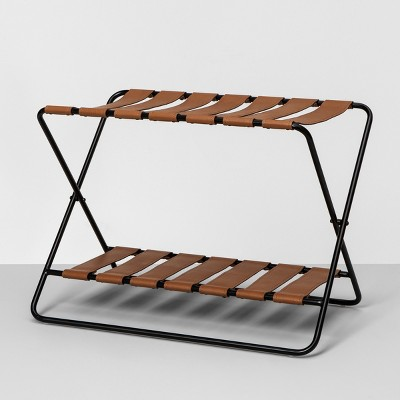 Foldable Luggage Rack - Black - Hearth & Hand™ with Magnolia