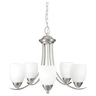 Yosemite Five Lights Chandelier Brushed Nickel